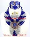 Purple Factory Price Fashion Nigerian Wedding African Beads Jewelry Set Crystal Most Popular African Costume Jewelry Set SY803-1