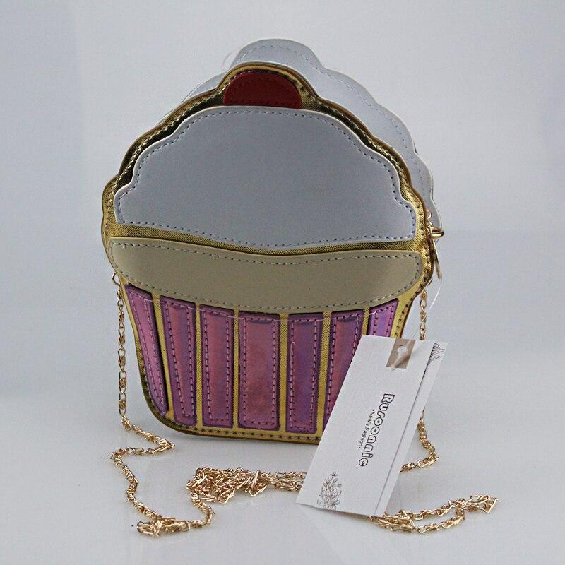 Bolsa Cupcake Kadın Çantası Patlamış Mısır Messenger Çanta - Çanta - Fotoğraf 6