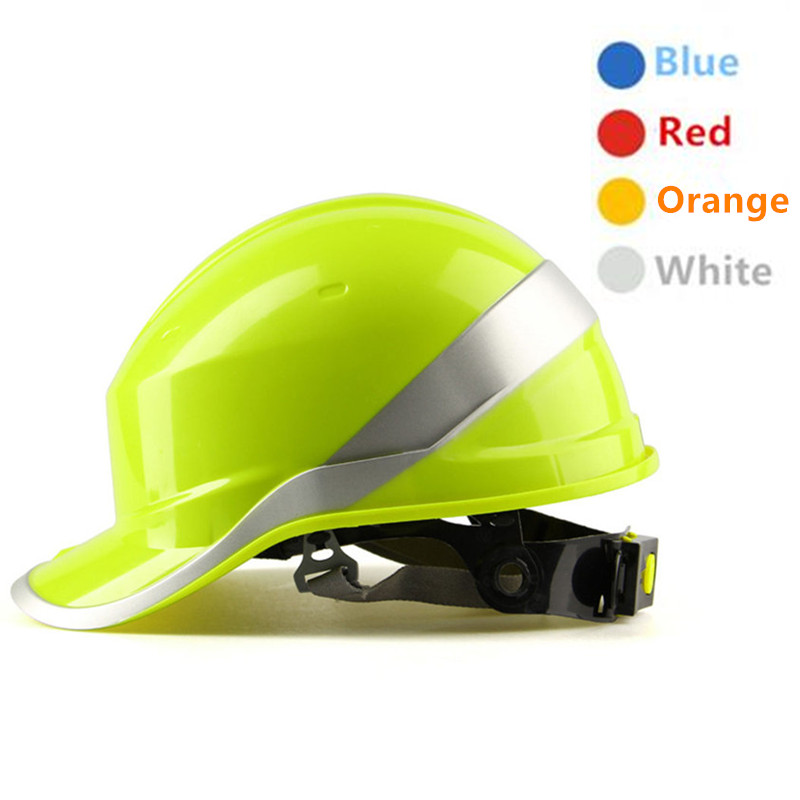 Safety Helmet ABS Insulation Material with Phosphor Stripe Building Construction Site Safety Hard Hat Self defense Work Helmet fire maple sw28888 outdoor tactical motorcycling wild game abs helmet khaki