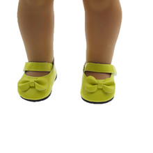 ZXZ New Fashion Yellow PU leather-based doll sneakers for 18 inches 45cm american lady child born doll equipment