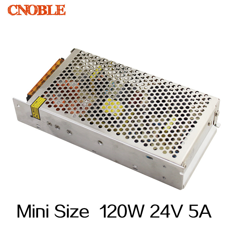 120W  24v 5A Mini Size Single Output Switching power supply for LED Strip light free shipping 35w 24v 1 5a single output mini size switching power supply for led strip light ms 35 24