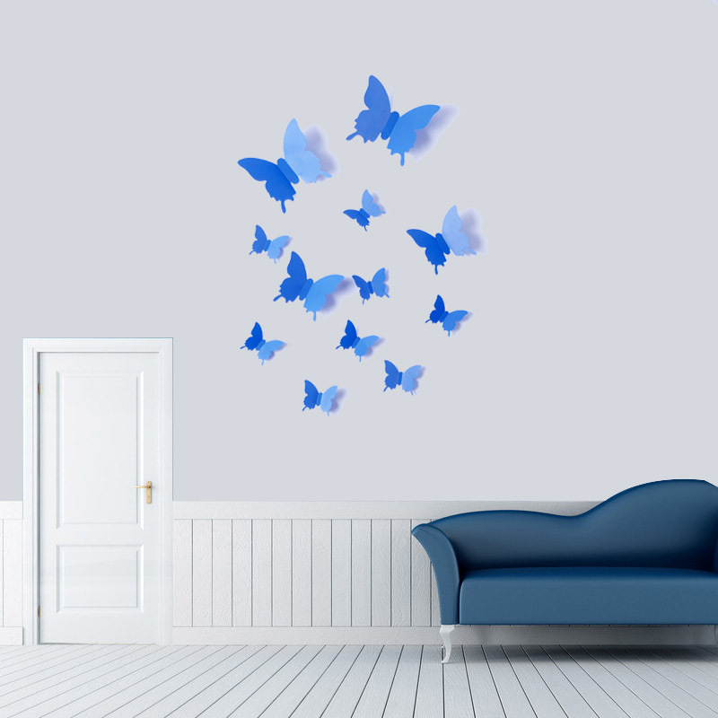 Butterfly Xpress 3D Wall Stickers Living Room TV Refrigerator Home Decor  DIY Decoration Accessories Supplies Gear Part 80