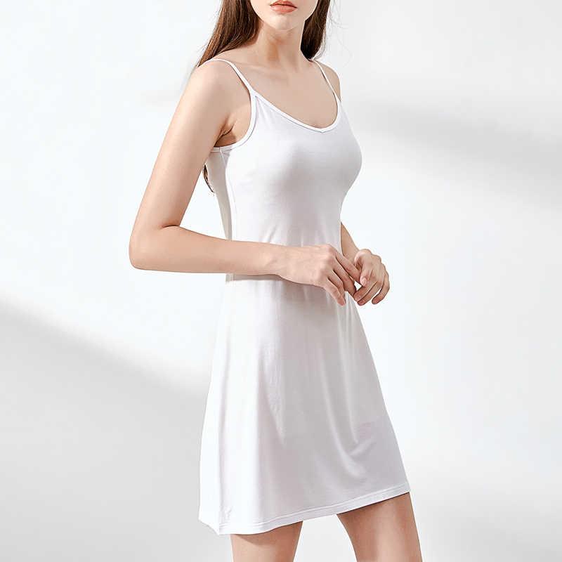 b7456667490281 ... Summer Women Dress Casual Solid Spaghetti Strap Short Smooth Sleeveless  Dress Womens Under Ladies Clothing Dresses ...