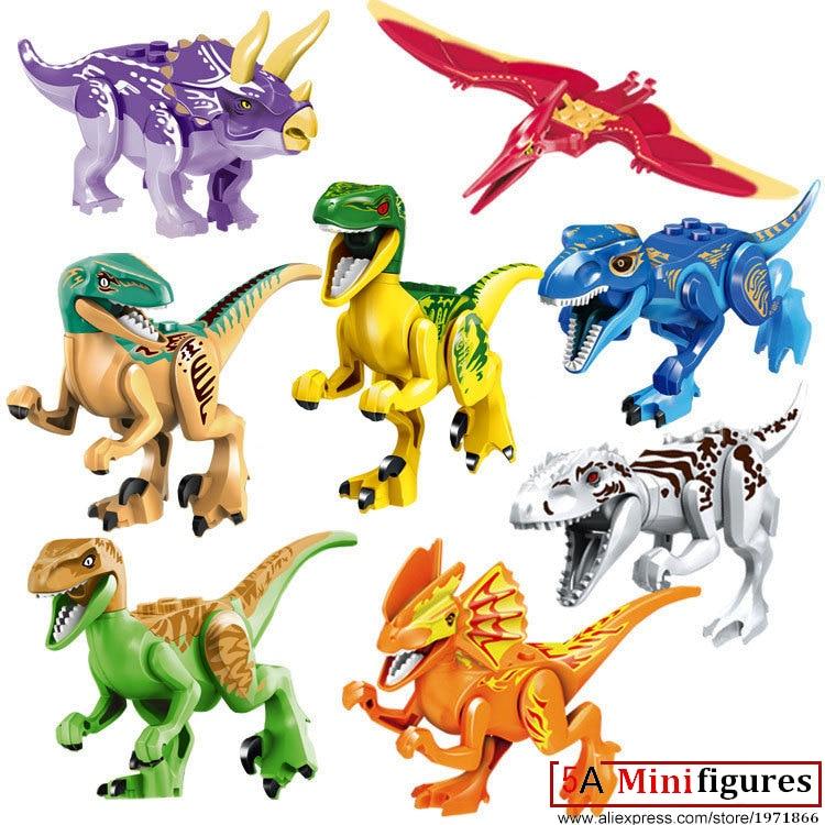 Wholesale 10 Jurassic World Dinosaur The Dinosaur Models Building Toys for Children