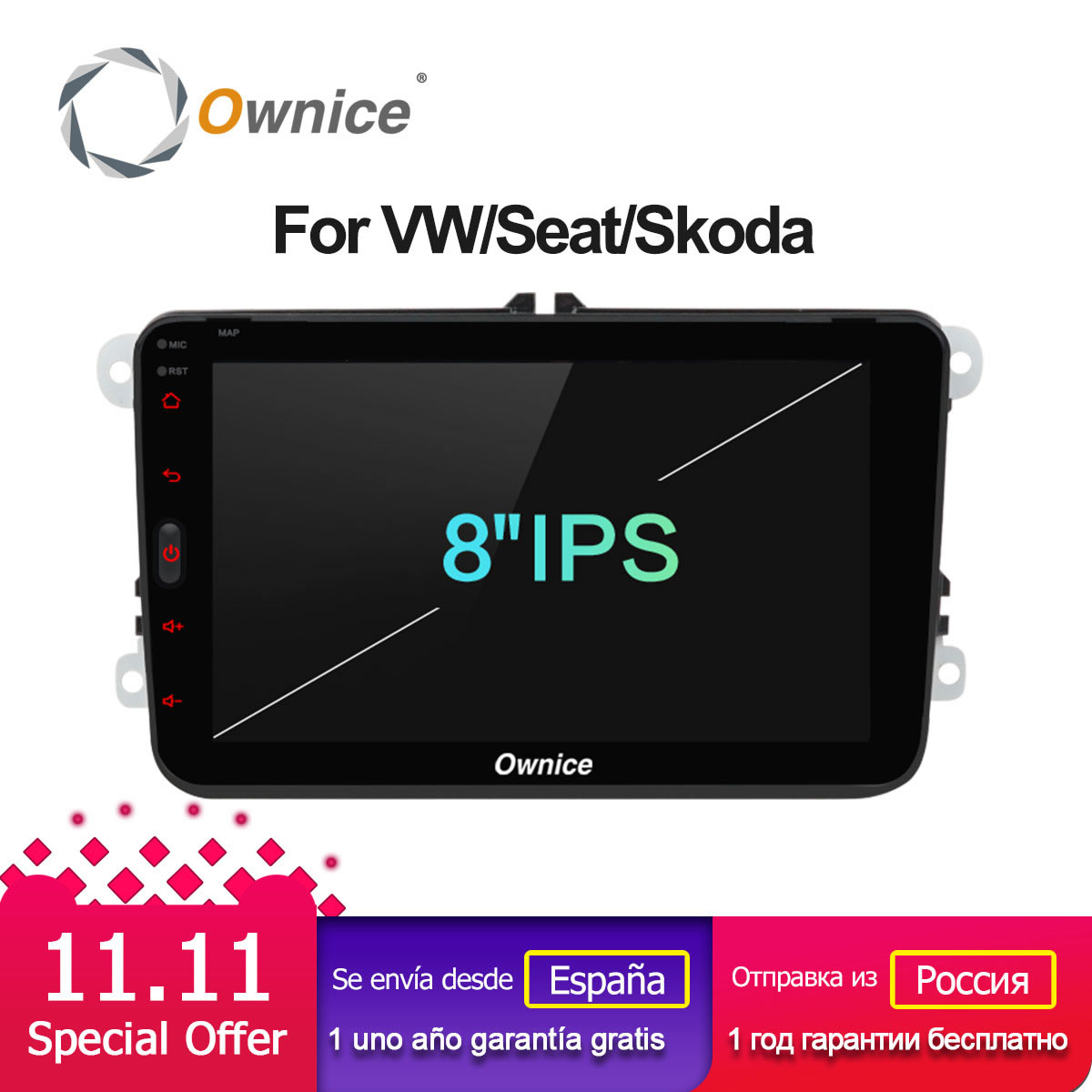 Ownice K1 Android car dvd player for VW polo golf passat tiguan skoda yeti superb rapid Octavia Volkswagen toledo Leon gps 2 din car dvd gps android 8 1 player 2din radio universal wifi gps navigation audio for skoda octavia fabia rapid yeti superb vw seat