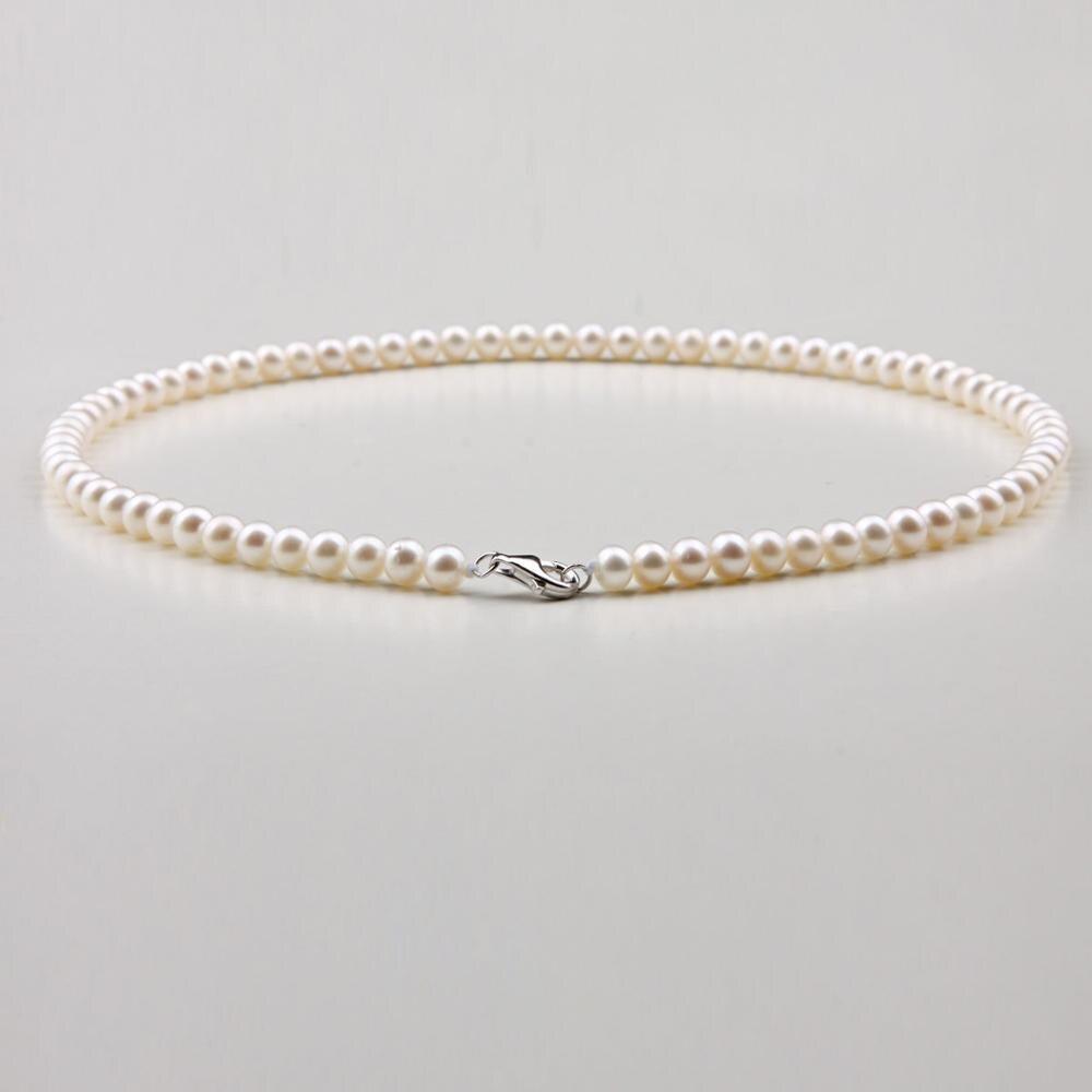 Collier de perles blanches Akoya japon naturel 5-6mm 18 pouces