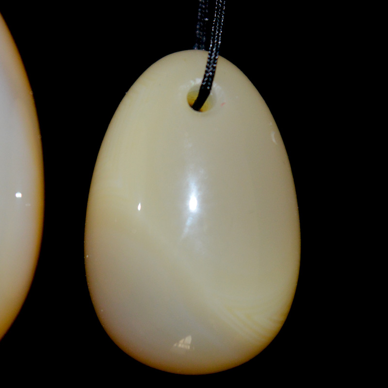 Natural Agate jade egg for Kegel Exercise 3pcs in one sets pelvic floor muscles vaginal exercise postpartum recovery yoni ben wa