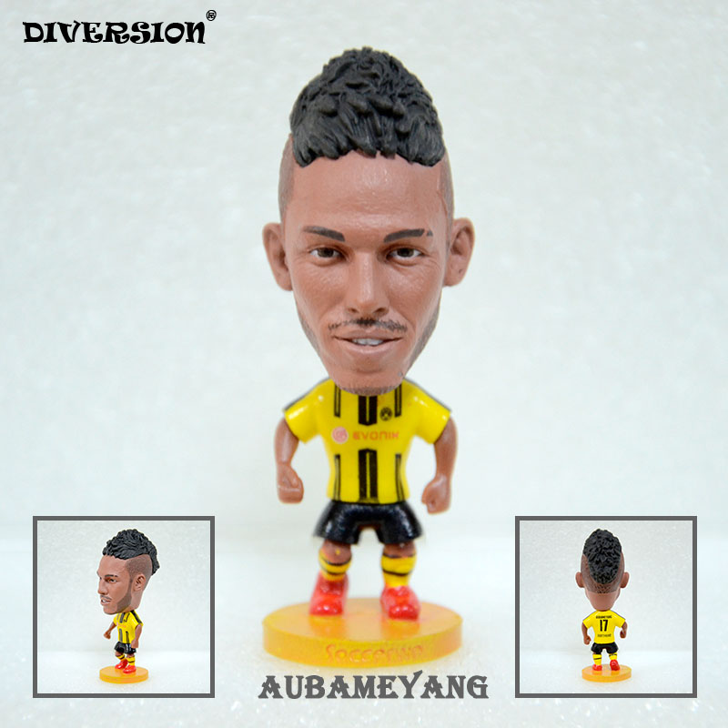 DIVERSION dolls figurine football stars Aubameyang 16-17 BVB Movable joints resin model toy action figure dolls collectible gift