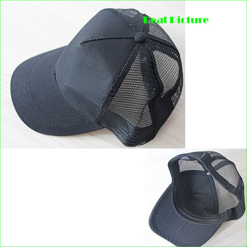 36569278b71d1 Breathable Man Trucker Mesh Cap Women Running Hats Outdoor Sports DIY Logos  Acceptable-in Running Caps from Sports   Entertainment on Aliexpress.com ...