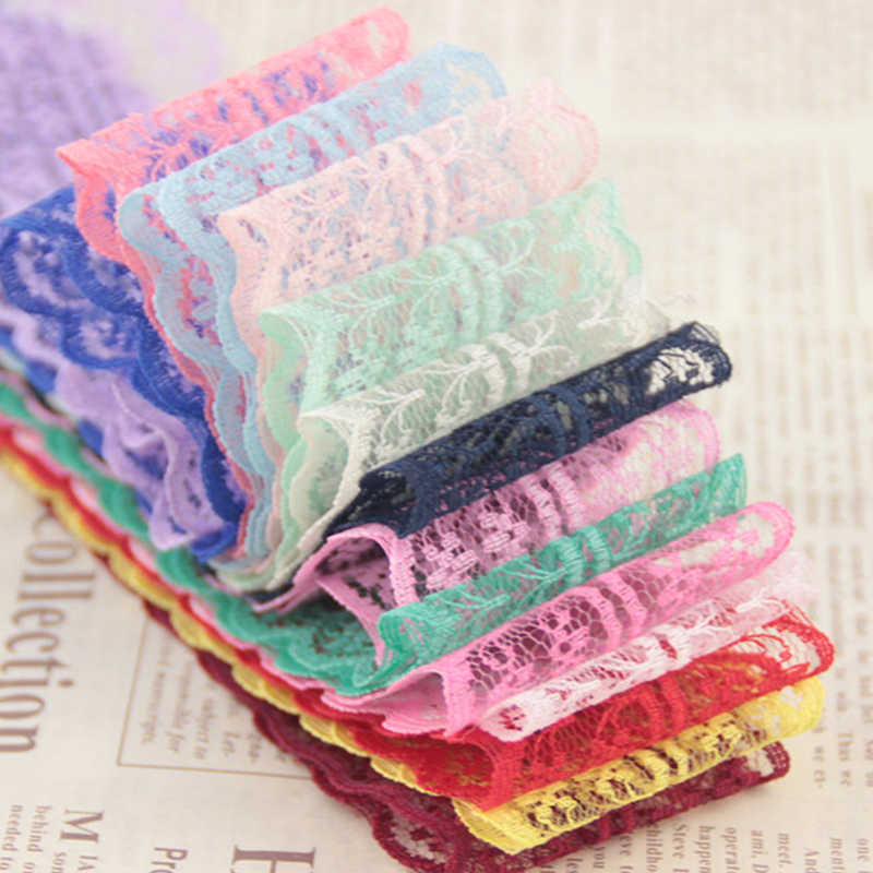 1 Yard 4.5CM Width Lace Ribbon DIY Fabric Lace Trim Apparel Sewing & Fabric Wedding Birthday Christmas Decorations