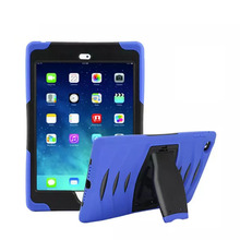 For Apple Pad Air 2 Mini three Mini four Professional 9.7  Case Shockproof Hybrid Combo Heavy Obligation Shockproof Cowl Case with kickstand