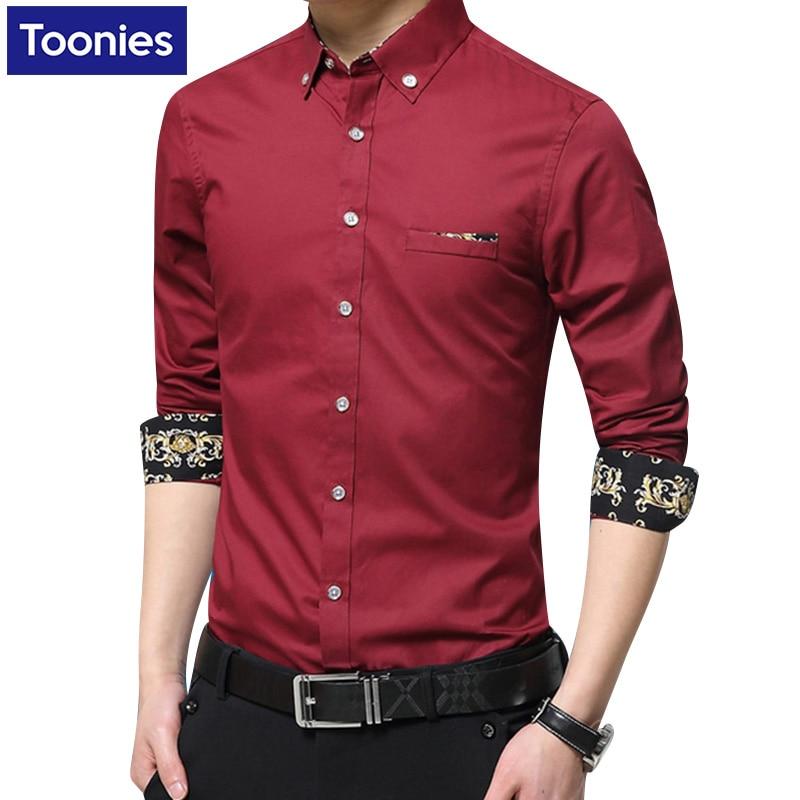 2017 Male Shirts Slim Camisa Social Masculina Casual Business Mens Dress Shirts Long Sleeve Shirt Men Plus Size Chemise Homme
