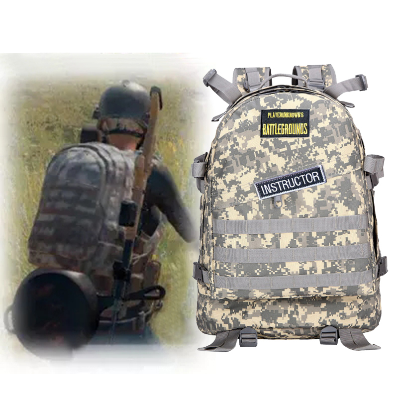 PUBG Level 3 Backpack Winner Winner Chicken Dinner  Playerunknown's Battlegrounds Cosplay Desert Camo Color Tactical Backpack