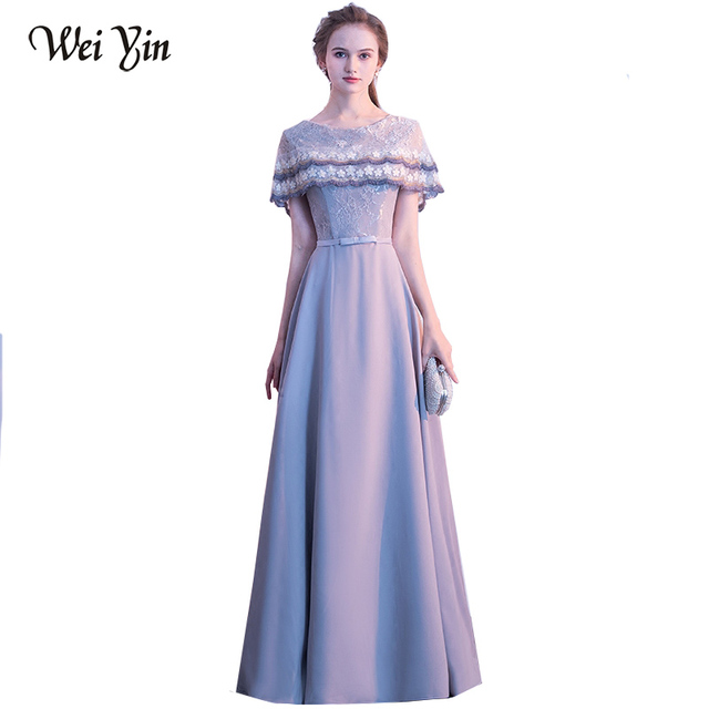 WEIYIN Robe De Soiree Party Dress Straight Evening Dresses O-Neck Long  Spring Formal Prom Dress Vestido de Festa 98e23a48618d