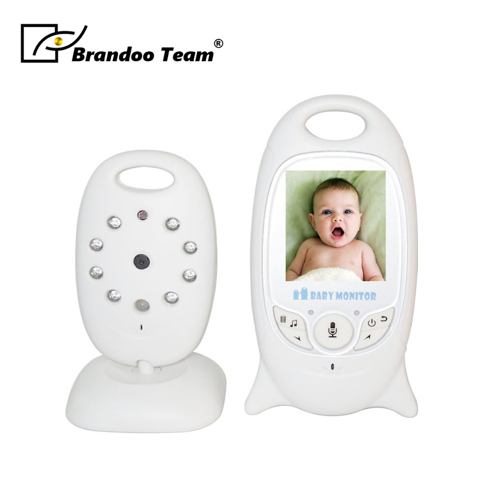 Wireless Monitor Night Vision Digital Video Baby Monitor Audio Music Camera Temperature Nanny Monitor,free shipping wireless nanny video baby monitor camera lcd electronica night vision ir temperature smart audio monitor bebe