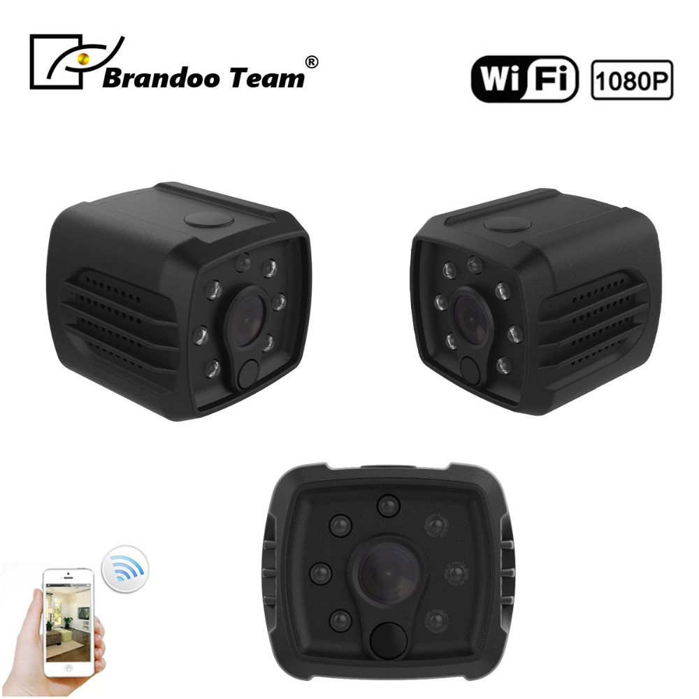 Wifi IP Mini Camera Infrared Body Camera Night Vision Motion Detection Mini DV video Recorder 1080P HD DV Camera,free shipping hd mini dv camera black