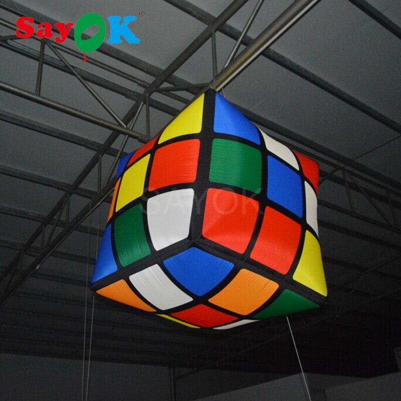 1 m (3.28ft) nouveau cube gonflable de la conception led/cube magique gonflable/cube gonflable pour l'événement, pub, partie, décoration de plafond - 4