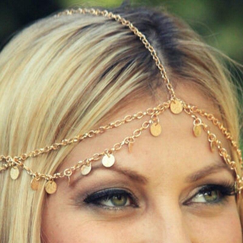 2019 Top Fashion Nieuwe Collectie Trendy Haar Decoratie Fashion Indian Boho Head Chain Parel Jurk Hoofddeksel Voor Vrouwen Sieraden