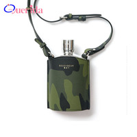High Quality 304 Stainless Steel Hip Flask Handmade Female Military Camouflage Kettle Man Whisky Alcohol Bottle Gift Box Packing