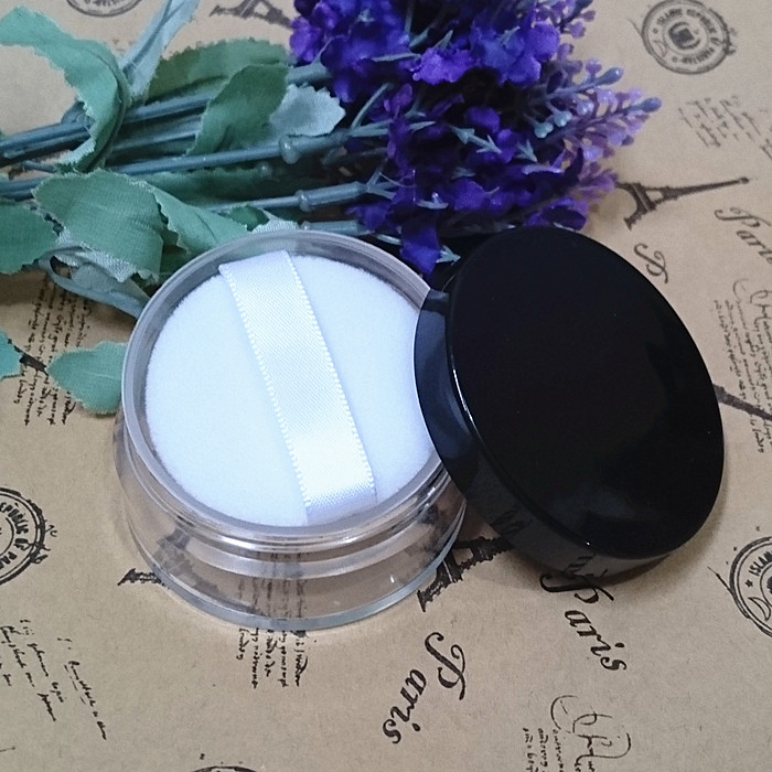 Black Loose Powder Compact 8-10g Travell Full Black Empty Plastic Cosmetic Jar Small Sample Makeup Sub-bottling nail powder case bob cosmetic makeup powder w puff mirror ivory white 02