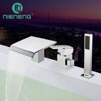 Nieneng бортике Для ванной кран цилиндра стороны Для ванной душ бронзовые Для ванной Ванна смеситель для душа квадратный Приспособления для ку