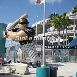 Decorazione esterna gonfiabili giganti baseball mascotte/fumetto per la pubblicità
