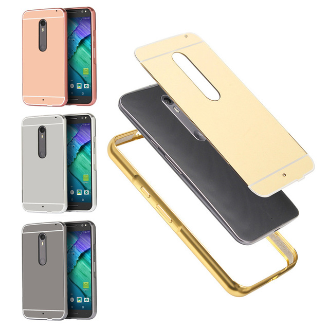 the latest 41c57 64bc1 US $4.49 10% OFF For Motorola Moto X Style XT1572 XT1570 Case Plating Metal  Frame with Mirror Back Cover Case for Moto X Pure Edition 5.7