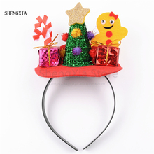 Christmas Headband Cute Tree Gifts Decoration Festival Party Dedicated Atmosphere Hair Accessories Headwear