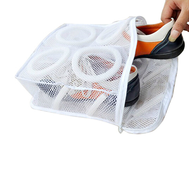 Living Room Shoes Storage Bag Storage Organization Bag Net Laundry Shoes Bag Dry Shoes Organizer Portable Laundry Bag
