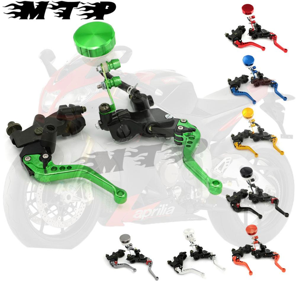 7/8'' 22mm Adjustable Motorcycle Clutch Brake Levers Master Cylinder Kit Reservoir for Kawasaki ZX6R 7R 10R NINJA 400R ZZR Z800 free shipping motorcycle 7 8 22mm clutch lever brake hydraulic master cylinder levers for kawasaki ninja zx 6r 636 zx 10r