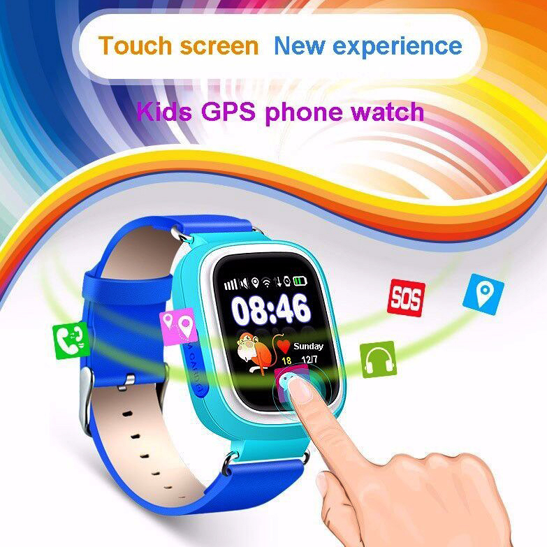 LANGTEK Smart Watch Q90 GPS Tracker and WIFI Position Location Finder Device with Touch Screen Child
