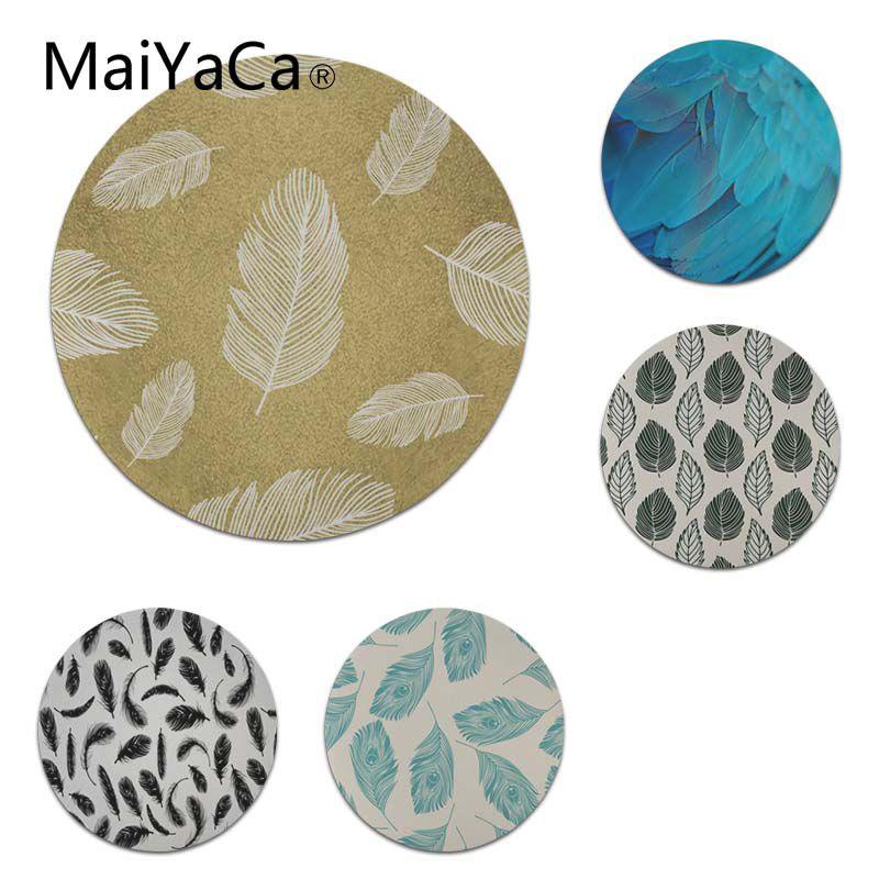 MaiYaCa Нескользящие шт перо Винтаж лес геймер Скорость мыши розничной резиновый коврик Размеры для 20x20 см и 22x22 см круглый для мышей