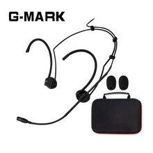 G-MARK профессиональная гарнитура микрофон для Shure беспроводной системы черный цвет мини XLR с 1 упаковочной коробкой