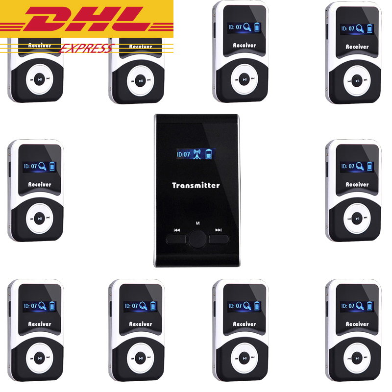 Wireless Audio Tour Guide System ( 10 Receiver + 1 Transmitter ) / Professional Simultaneous Translation Guide System