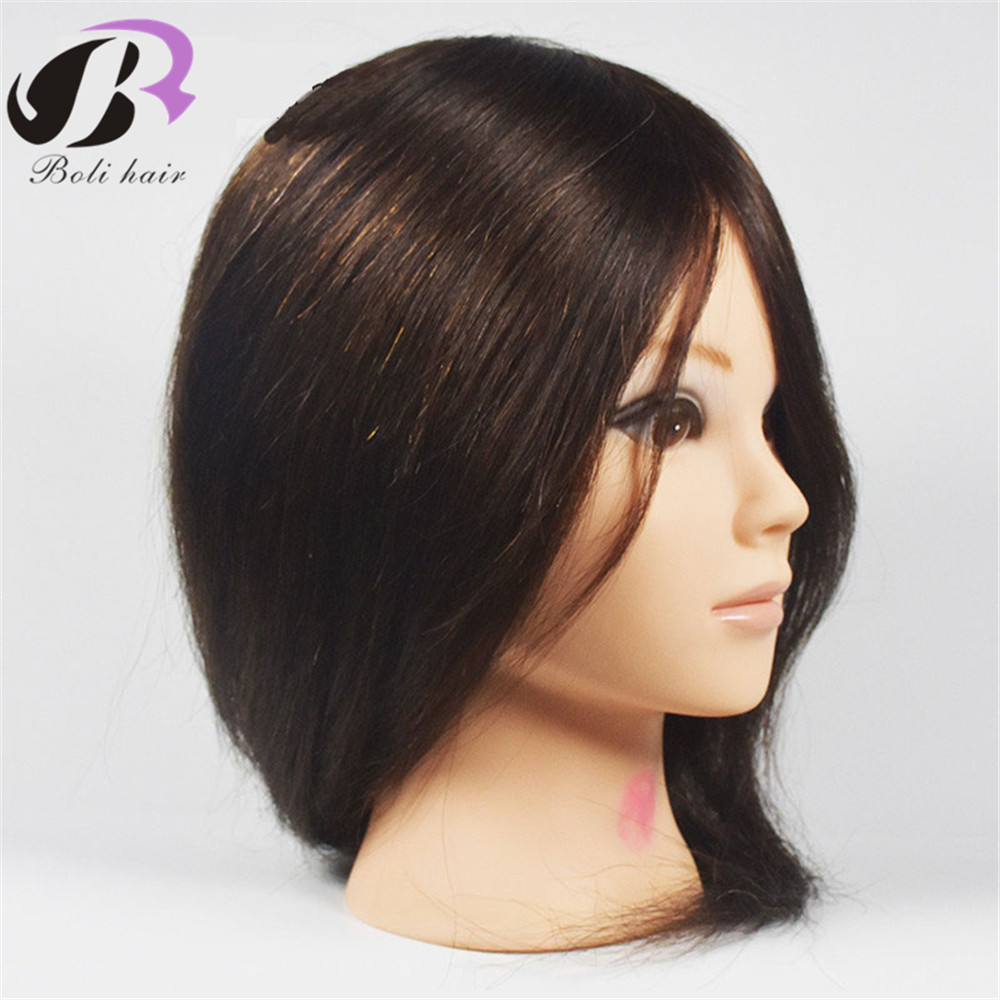 Mannequin Professional Hairdressing Training Heads 100 Human Hair Best Quality Female Mannequin Head With Natural Brown Hair