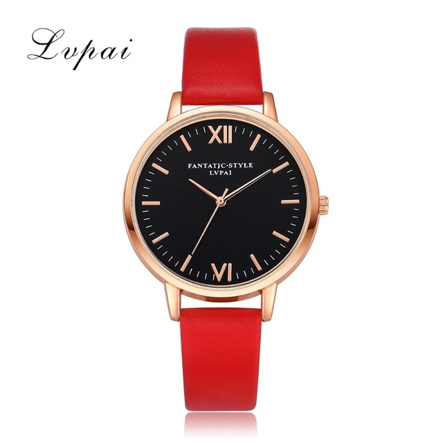 2017 Rose Gold Lvpai Brand Leather Watch Luxury Classic Wrist Watch Fashion Casual Simple Quartz Wristwatch Clock Women Watches 3