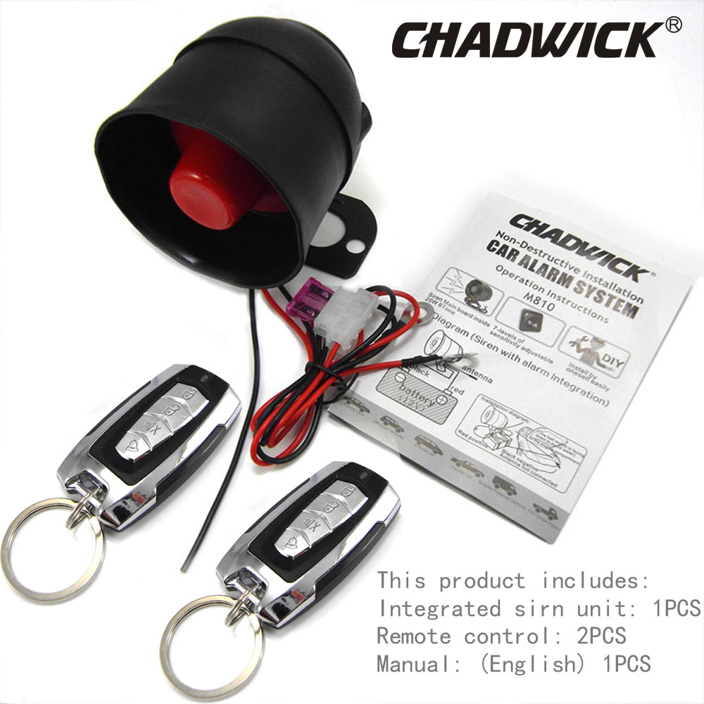 Universal siren accessorie Car Alarm System Sound aloud horn Burglar Vibration alarm CHADWICK 8171 Installation non destructive in Burglar Alarm from Automobiles Motorcycles