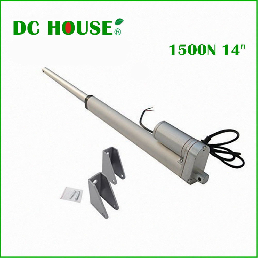 350mm/14inch Stroke Heavy duty DC 12V 1500N/330lbs Load Linear Actuator Free shipping linear actuator 2 pcs 250mm 10inch stroke heavy duty dc 12v 1500n 330lbs load linear actuator multi function 10