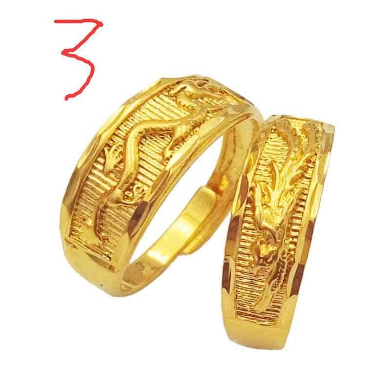ZHAOสามารถเลือกรูปแบบใหม่แหวนผู้ชายผู้หญิงเปิดมังกรฟีนิกซ์แหวนไม่จางหายเครื่องประดับ
