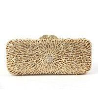 Fashion Rhinestone Upscale Evening Bag Encrusted New Handmade Crystal Rhinestone Evening Bag Wholesale