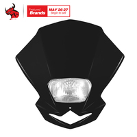 Motorcycle Headlight Led Fan Shape Moto Dirtbike Motocross Off Road Universal Headlights Lampada Moto Streetfighter Headlight