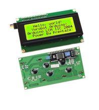 노란색 디스플레이 iic i2c twi sp i 직렬 인터페이스 2004 20x4 문자 lcd 모듈