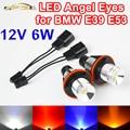 2 Unidades (1 Unidades) 2*3 W 6 W Bridgelux LED Salta el led Marcador Angel Eyes Blanco Azul rojo Amarillo para BMW E39 E53 E60 E61 E63 E64 E65 E66
