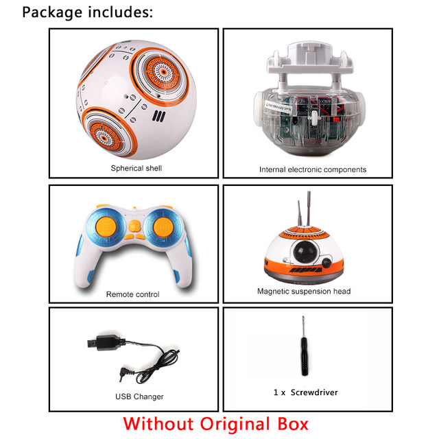 Online-Shop Kostenloser versand 17 cm Star Wars RC 2,4g BB Roboter ...