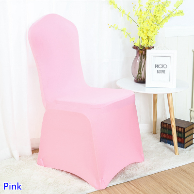 Hotel Chairs For Sale Shaker Chair Tape Spandex Cover Pink Colour Flat Front Close Beautiful Amazing Decorative On