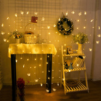 New heart shaped christmas new year LED curtain lights decorated living room bedroom pendant garlands