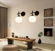 BOKT Modern Glass Wall Lamp 4Style Bedroom Sconce Lighting Nordic Hall Stair Living Room Dining For Home