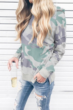 new hot American style Camouflage woman sweatshirt fashion hooded pullover full sleeve casual female