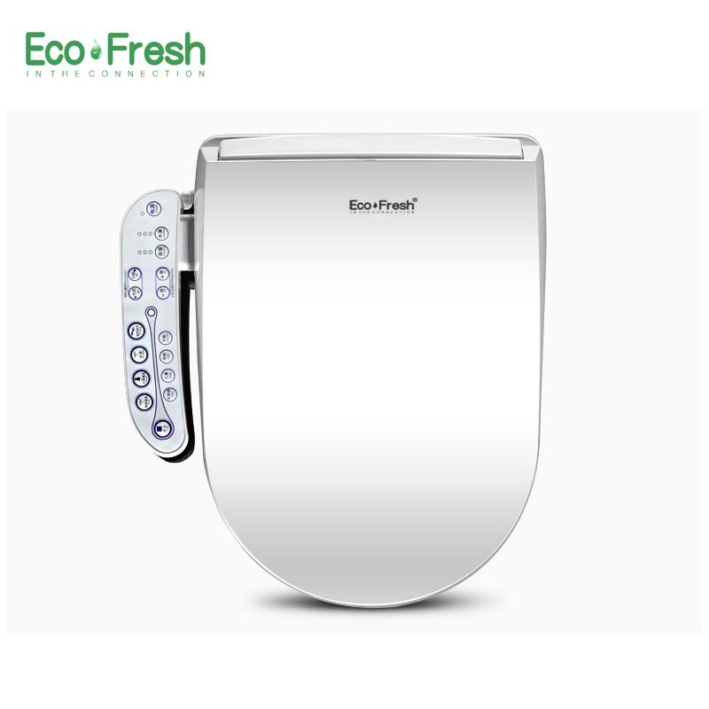 EcoFresh heated toilet seat Smart bidet toilet Washlet Electric Bidet cover intelligent toilet seat led lighting toilet seat унитаз электронный smart toilet