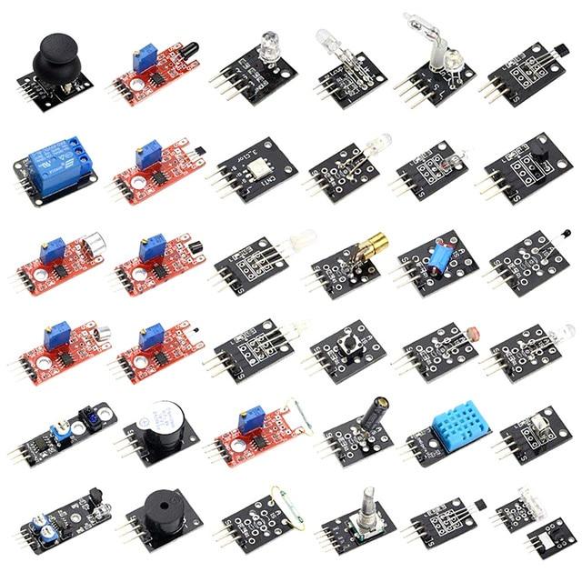 37 sensor kits Electronic module sensors Robotic smart car kit Compatible for Arduino
